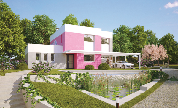 Des maisons en couleurs une r ponse la crise bien for Couleur exterieur maison contemporaine