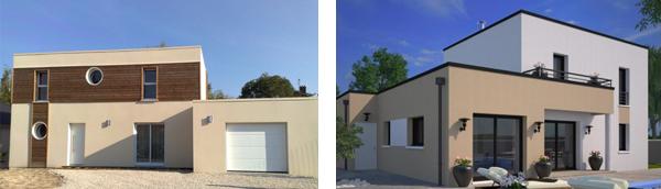 des maisons à toit plat