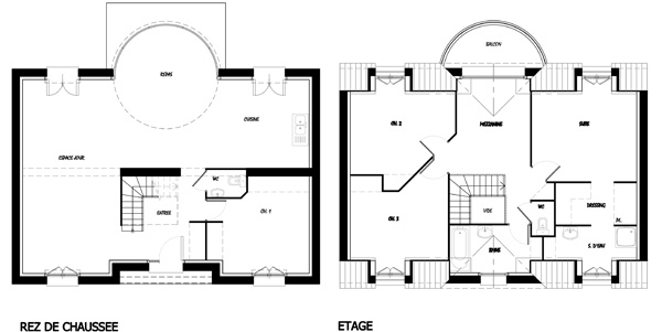 Une maison toute en lumi re bien construire for Plan maison avec cotation