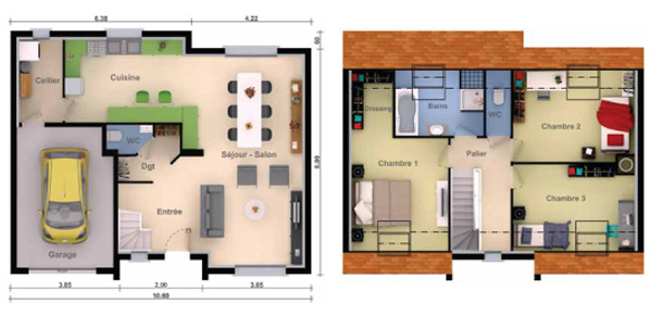 plan maison moderne 300m2