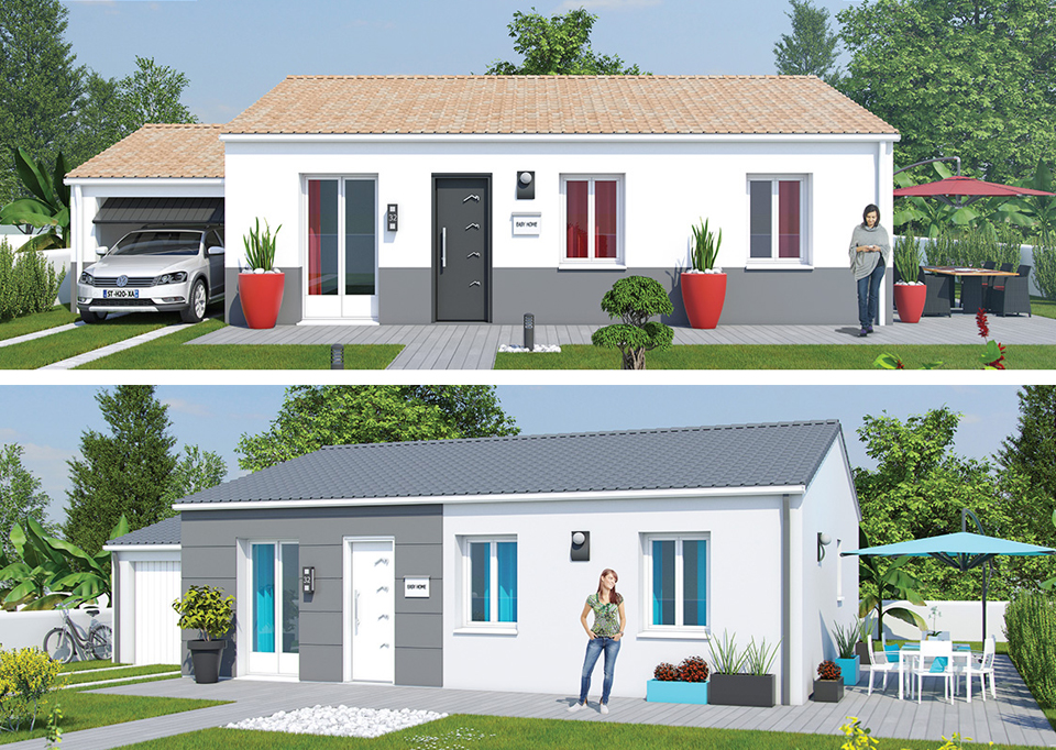 With simulateur couleur facade maison - Simulation couleur facade ...