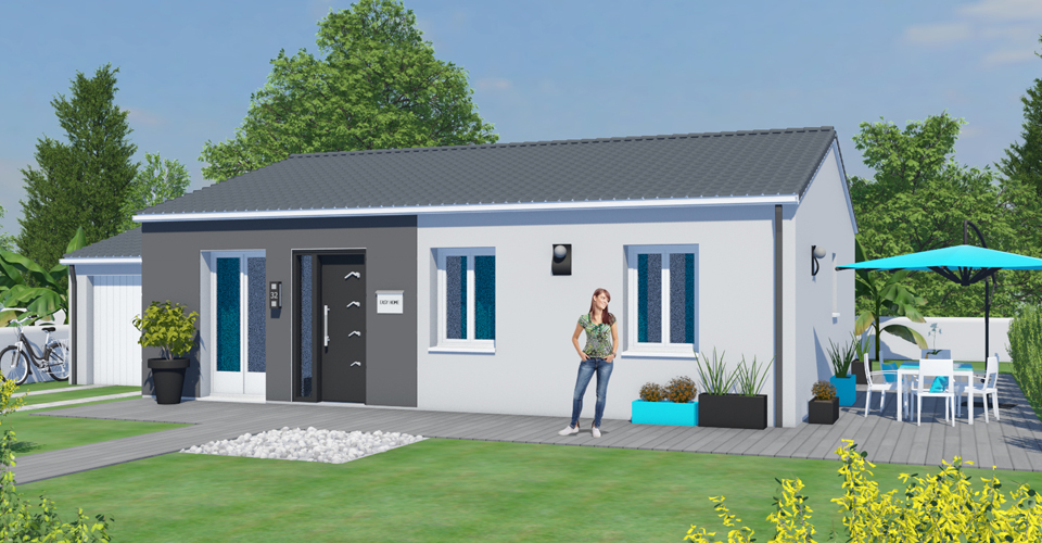 Construire une maison simple for Maison moderne simple