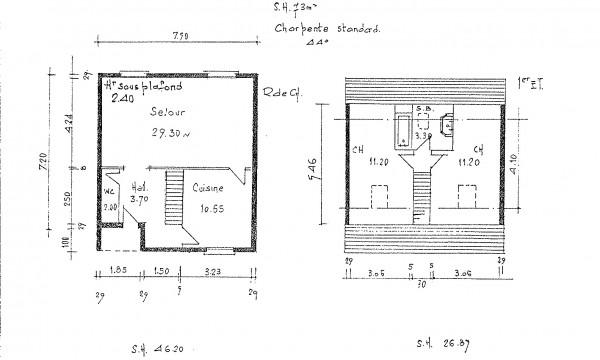 Les premières représentations de maisons et leurs plans sont réalisés à la main.
