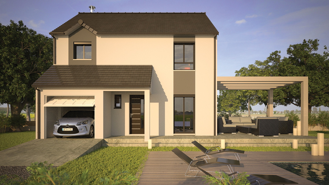 Simulateur maison 3d 3d blender cycles render maison for Modele de maison a construire