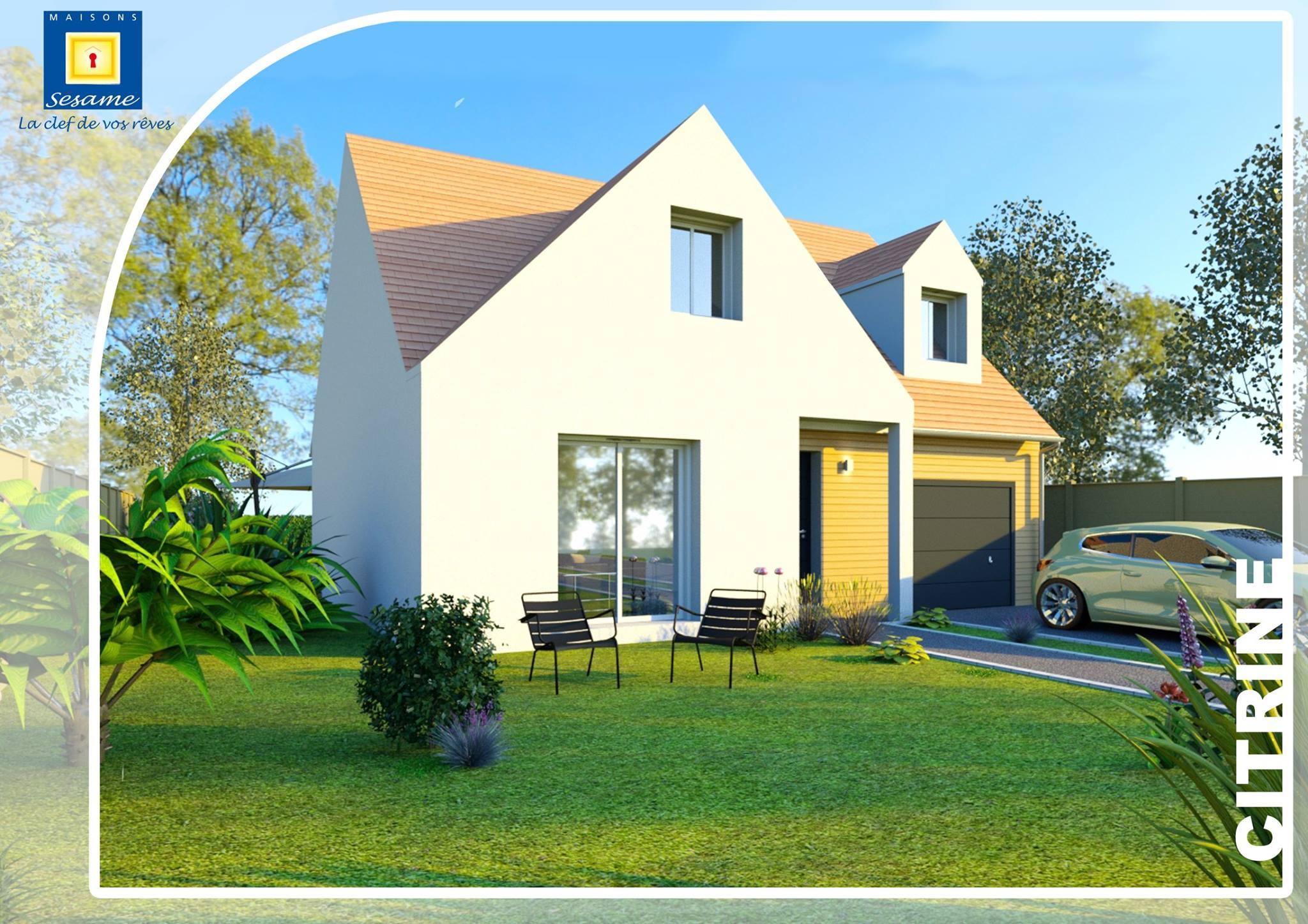 Mod le citrine de maisons s same une maison moderne avec for Plan de maison avec combles amenages