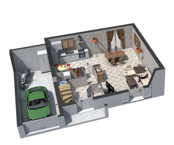 Plan maison r 1 le rez de chausse je viens vers vous - Amenagement de garage en piece habitable ...
